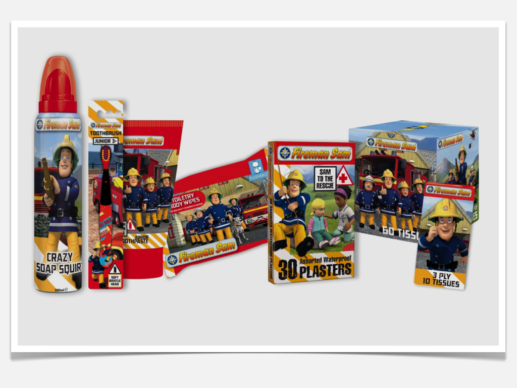 Fireman Sam Licensed Packaging