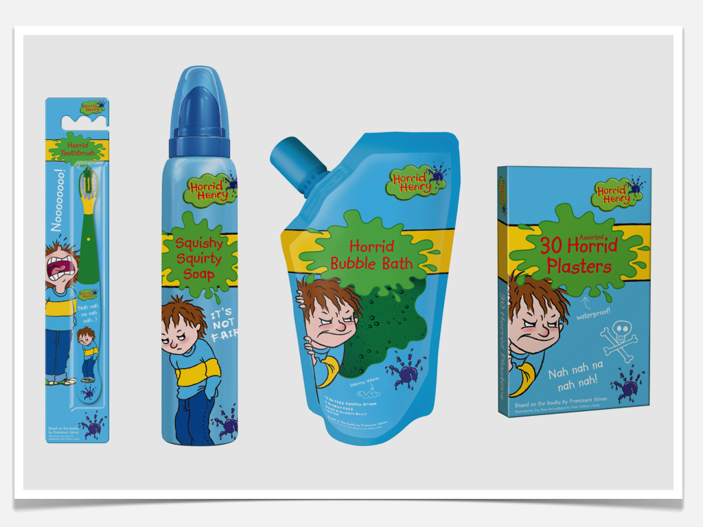 Horrid Henry Licensed Packaging
