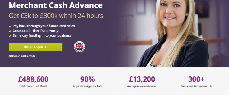 Business cash advance website build