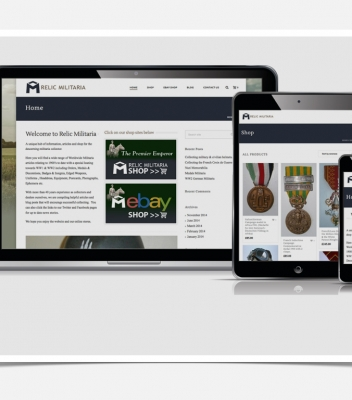Relic Militaria Branding and Website Design